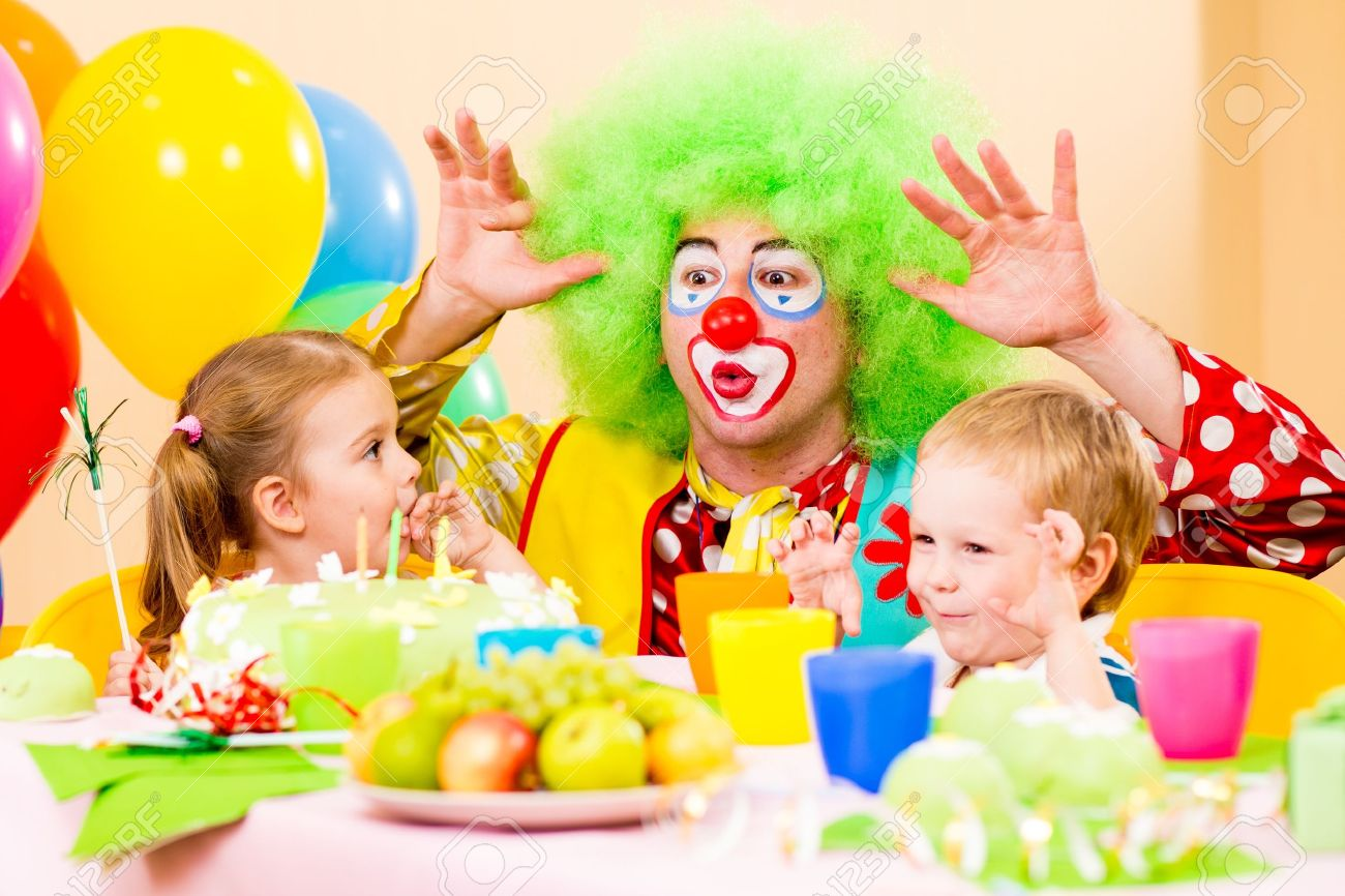 15478145-happy-kids-with-clown-on-birthday-party